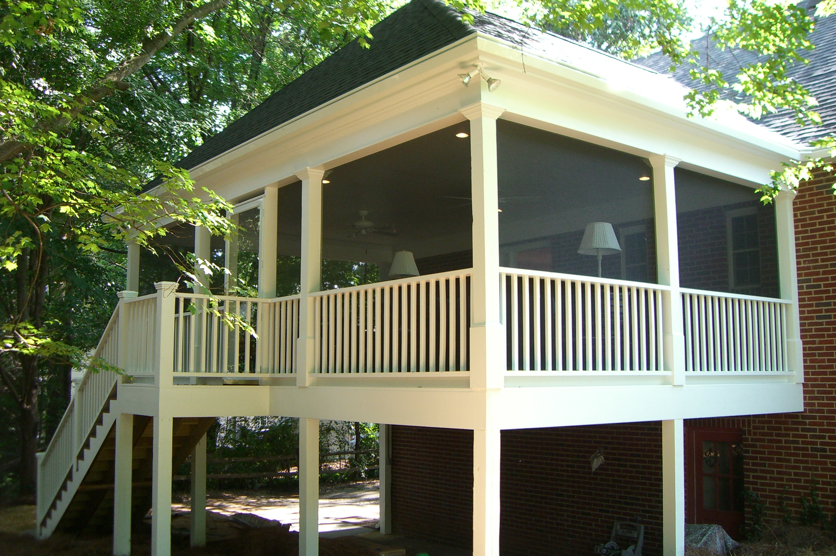 decks in louis to walls screened archadeck porches screen by safety rails st floors a porch how elevated with doors windows